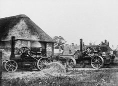 Acle, steam ploughing engines.  Kitson and Hewitson / J.Fowler steam Plough, (K&H works no. 923, built 15/10/1861, 12hp) and  Kitson and Hewitson / J.Fowler steam plough at work (K&H works no. 846, built 1861, 10hp).[images/photographs]