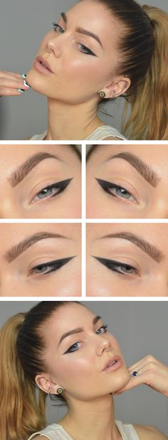 Linda Hallberg Makeup - The Perfect Winged Eyeliner Makeup Blog, Makeup Tools, Beauty Makeup, Makeup Brushes, Makeup Ideas, Makeup Geek, Makeup Tutorials, Blue Eyeliner, Eyeliner Looks