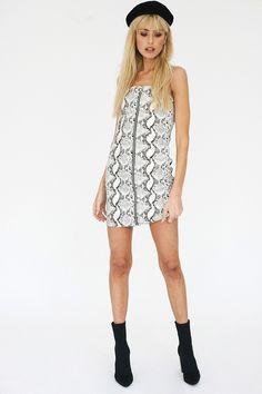 Bank Snake Print Mini Dress - Verge Girl