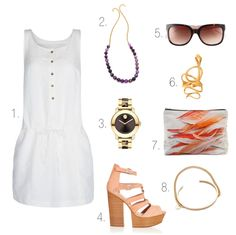 Love all of the accessories ... could wear them with any simple white dress.