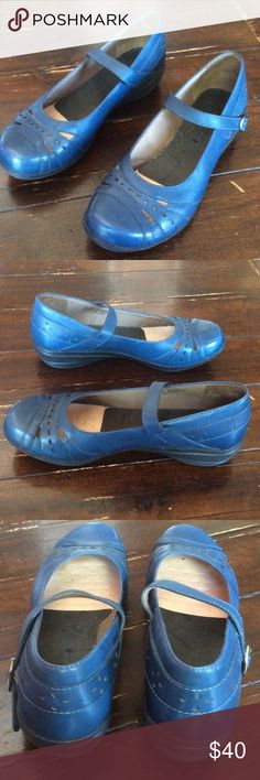 Adorable Dansko size 38 Blue Mary Jane. Like new and oh so cute! Missing the Inserts Dansko Shoes