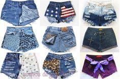 Princess Jujube: Customização de Shorts Jeans