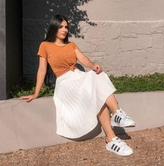 Office Outfits Women Casual, Cute Casual Outfits, Dope Outfits, Casual Dresses For Women, Cute Dresses, Fashion Outfits, Sunday Outfits, Spring Outfits Women, Skirt Outfits Modest