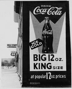 Coca-Cola sign shortly after it was painted, 1958. Photo courtesy Fort Collins Local History Archive.