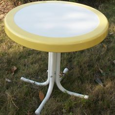 "4D Concepts Metal Retro Round Side Table $60. measures 19"" h x 22"" d."
