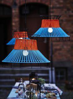 Nouveautés outdoor Ikea 2018 : des suspensions colorées pour égayer la terrasse