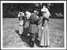 Presentation of the Military Medal by General Plumer to nurses for their courageous conduct when their hospital was bombed by German airmen by National Library of Scotland, via Flickr