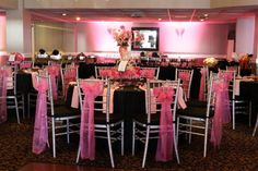 Pink and Black Birthday Party