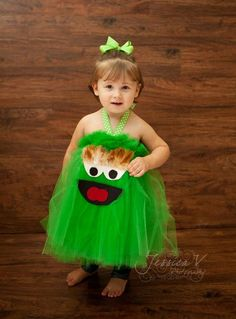 Oscar the Grouch Inspired Tutu Dress for dress up playtime - Oh, if I have kids...
