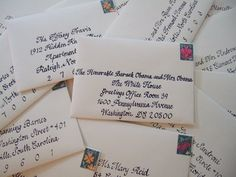 send a wedding invitation to the president & you'll receive a congratulatory letter from him and the first lady!
