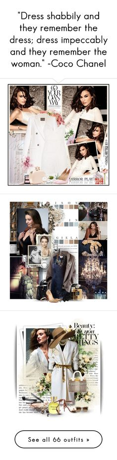 """""""""""Dress shabbily and they remember the dress; dress impeccably and they remember the woman."""" -Coco Chanel"""" by godrocks0606 ❤ liked on Polyvore featuring An Italian Theory, Chanel, EFF, Nearly Natural, New Growth Designs, LSA International, Emporio Armani, Manolo Blahnik, Givenchy and Olivia Burton"""