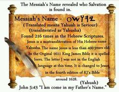 YAHUSHA Messiah (Mashiach) name in Paleo Hebrew (Yahuah)