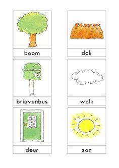 Woordkaarten Bas 'Hier wonen wij' 1 Learn Dutch, Dutch Netherlands, Dutch Language, School 2017, Exercise For Kids, Primary School, Paper Dolls, Storytelling, More Fun