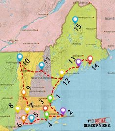 Epic New England Road Trip Guide for 2019 [Including Fall Foliage!] - - Epic New England Road Trip Guide for 2019 [Including Fall Foliage!] I want to go there EPIC New England Road Trip Guide for May 2019 Maine Road Trip, Road Trip Map, Summer Road Trips, East Coast Travel, East Coast Road Trip, New England Fall, New England Travel, New England Usa, Samana