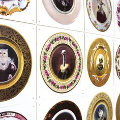 Funny wall decor - Wonderland by Ixxi Wonderland, Interior And Exterior, Interior Design, Collage, Wall Decor, Plates, Tableware, Walls, Boutique