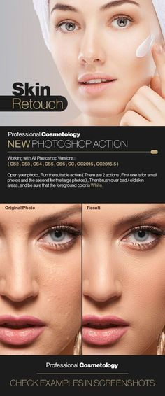 Skin Retouch — Photoshop ATN #cosmetic #retouching • Available here → https://graphicriver.net/item/skin-retouch/17943004?ref=pxcr