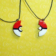 Pokemon - Pair of Friendship Pokeball Necklaces by YellerCrakka (Cutest thing I've ever seen?  I think so.)