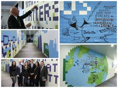 Illustrative infographic - The wall: Deloitte at Davos 2015.