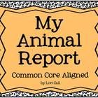 This Common Core aligned non-fiction animal report template has been uploaded as a PowerPoint presentation and may be edited for your classroom use...