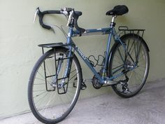 ash gray touring bicycle
