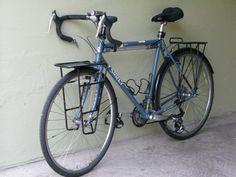 ash gray touring bicycle