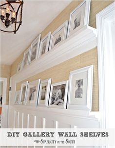 diy gallery wall shelves (simplicity in the south via centsational girl)