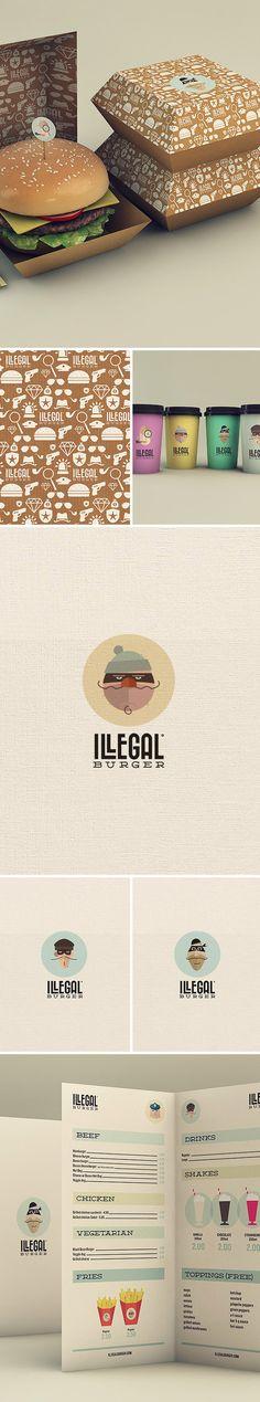 illegal burger brand identity