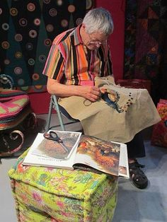 Kaffe Fassett, king of ayoba. best textiles