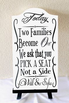 Assigned Seating Vs Non -Assigned Seating on itsabrideslife.com #weddingsigns