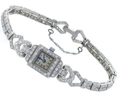 Art Deco Platinum Diamond Watch | |