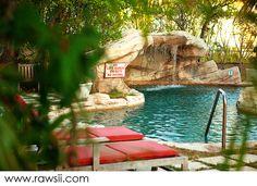 Pool at A Stone's Throw Away, Nassau, Bahamas.