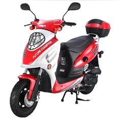 50cc Scooter For Sale, 150cc Scooter, Scooters For Sale, Scooter Motorcycle, Motor Scooters, Street Legal Scooters, Street Bikes, 49cc Moped, Gas Moped