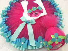 trolls tutu trolls birthday outfit poppy trolls tutu 4