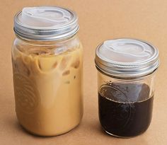 turning a mason jar into a travel mug. I'd love to do this because I plan on using mason jars as decorations,cups and favors at my wedding. Would just be a cute extra!
