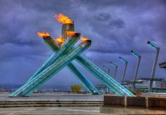 Olympic Cauldron - Fire and Ice - Vancouver 2010 Olympics