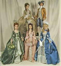 Enchanted Serenity of Period Films: Crawford Manor - Custom made Dolls ~ Court of Louis XV