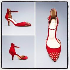 """❤️HOST PICK❤️ Zara Red studded spiked kitten heels Worn once, comes with box. About 2.5"""" heel. Looks amazing with an LBD or jeans. Can be dressed up or worn to bring an """"oomph"""" to Casual Friday wear. ⚠️Unless it is for bundles, I don't negotiate pricing through comments. Please use the """"Offer"""" button if you'd like to negotiate a deal lower than the listed price. Thank you! Zara Shoes Heels"""