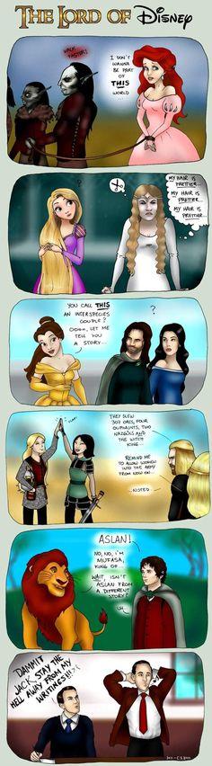 Disney, C.S. Lewis, J.R.R. Tolkien