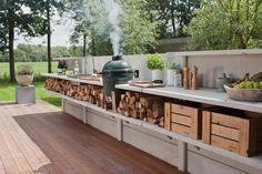 Proper outdoor kitchen