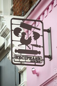 "Signage for Jamie Oliver's ""Recipease"". Brand identity and packaging created by Williams Murray Hamm. - creatingdifference.com"