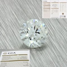 1.01ct GIA Certified Round Brilliant Cut Graded H SI1 Natural Loose Diamond For