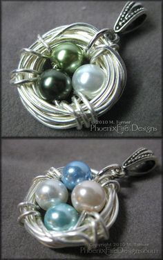 I MUST have one of these! Customizable mother's nest necklace =)