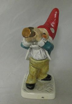 Al C0boy Gnome Goebel figurine with trumpet by MyRedFlamingo, $49.99