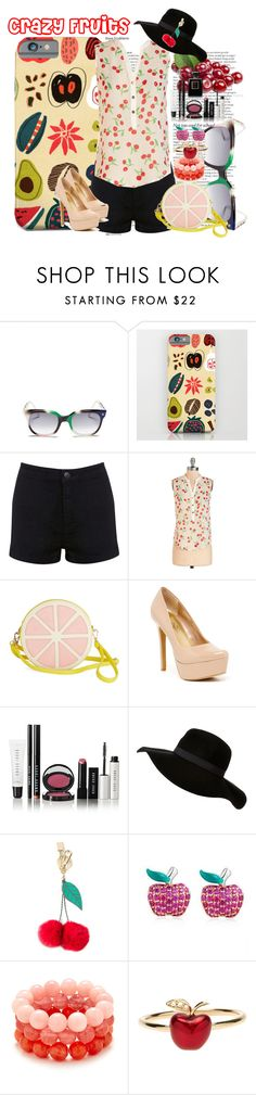 """""""Fruits make the world strange!!"""" by dancelover-567 ❤ liked on Polyvore featuring ASOS, Sheriff&Cherry, Miss Selfridge, Jessica Simpson, Bobbi Brown Cosmetics, Dolce&Gabbana, MBLife.com, Alison Lou and Chanel"""
