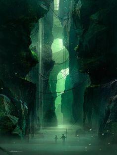 Fantasy Artworlds - Personal Illustrations by George Munteanu, via Behance Fantasy Artwork, Fantasy Art Landscapes, Fantasy Concept Art, Fantasy Landscape, Landscape Art, High Fantasy, Fantasy World, Medieval Fantasy, Final Fantasy