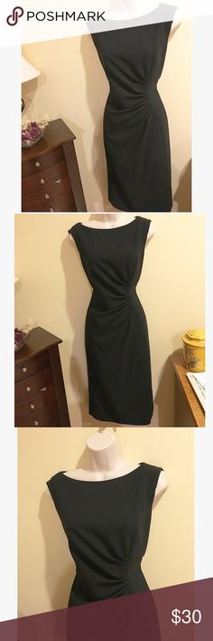 Black Cocktail Dress Classic black cocktail dress. Excellent condition, worn only once!! Short sleeve/cap sleeve. Below the knee and fitted. Zipper up the back. Bought for a wedding but unfortunately never wore again. Jones New York Dresses Midi