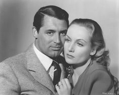 Of course we know they ended up together after all. Carole Lombard and Cary Grant, In Name Only, 1939 Carole Lombard, Golden Age Of Hollywood, Classic Hollywood, Classic Actresses, Actors & Actresses, Kay Francis, Military Records, William Powell, Lady In Waiting