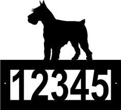 Custom Crafted SCHNAUZER Steel Address Sign by Designs of Steel. $29.99. FREE SHIPPING in the US. This beautiful custom steel address sign is extremely sturdy. The high quality makes for a nice addition to your home or a great gift! We will contact you for your customization after your purchase. Remember there are 5 number spaces available for customization.
