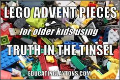 lego advent pieces {goes along with Truth in the Tinsel}