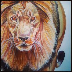 #lion #illustration #watercolour #annehviidnicolaisen.dk